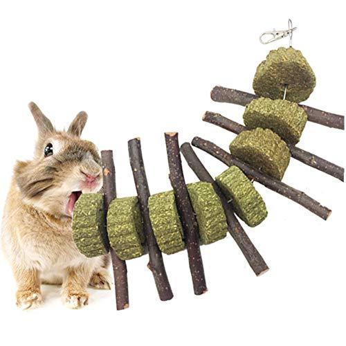 Bunny Chew Toys for Teeth, Organic Apple Wood