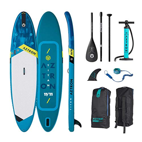 """Aztron Titan All Around Inflatable SUP Board 11'11"""" incl. Adjustable Aluminum Paddle and Leash"""