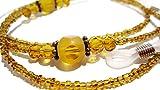 ATLanyards Amber Dots Beaded Eyeglass Chain - Glass Beaded Eyeglass Holder