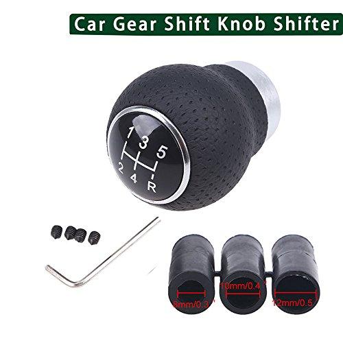 Hottong Universal 5 Speed Aluminum Manual Car Gear Shift Knob Shifter Lever (2' Gear Shift Knob)