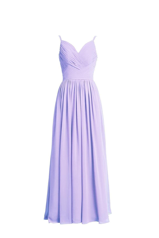 YiYaDawn Women's Long Chiffon Bridesmaid Dress Cocltail Prom Dress