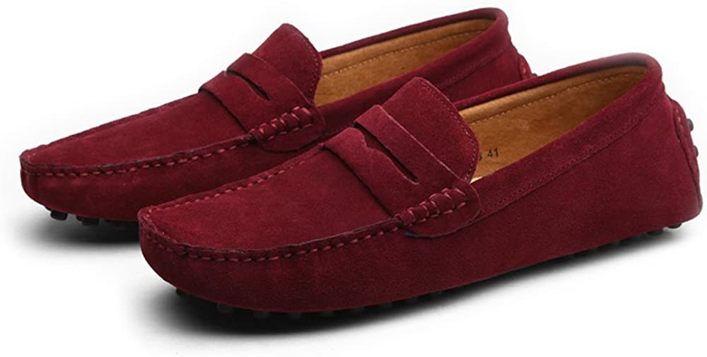 MXL Mens Driving Penny Loafers Suede