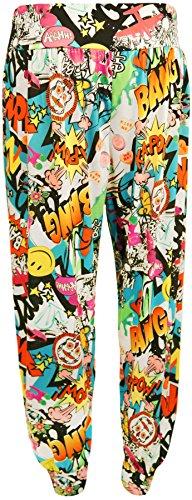 Tailles 42 Alibaba Harem Imprimé Femmes Pantalons Comic À Wearall 36 wq7fB6x4U