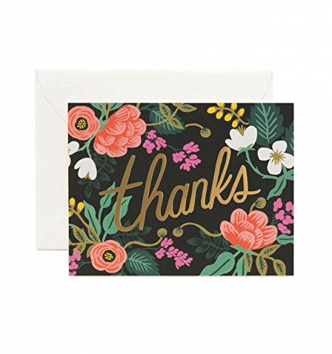 - Birch Floral Thank You Note Cards by Rifle Paper Co. -- Set of 8 Cards and Envelopes