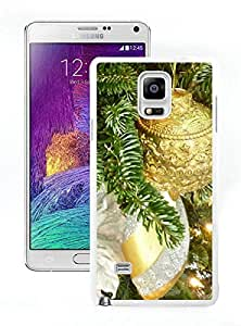 Recommend Design Silver and Gold Christmas Tree White Samsung Galaxy Note 4 Case 1