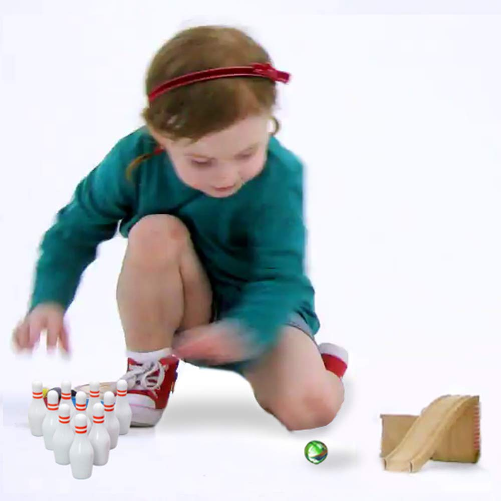 6 Pack Miniature Bowling Game Set -Deluxe Bowlers Etc.- Kidsco For Kids Playing Fun Girls Party Boys