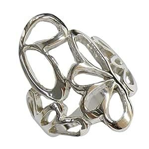 Anillo Chic-Net de plata de ley 925 señoras de plata de la joyería de filigrana de plata arcos brillante 59