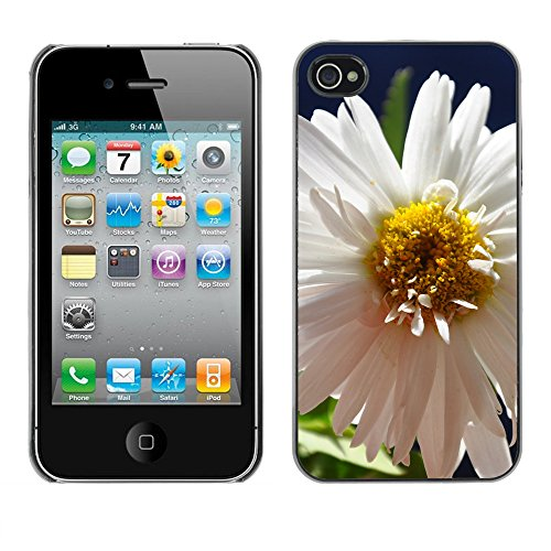 Premio Sottile Slim Cassa Custodia Case Cover Shell // F00004072 une fleur // Apple iPhone 4 4S 4G