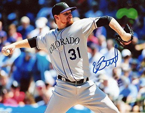 EDDIE BUTLER COLORADO ROCKIES SIGNED 8X10 PHOTO W/COA