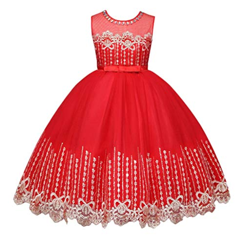 GorNorriss Baby Dress Children Kid Girls Bow Lace Princess Bling Tutu Formal Princess Dress