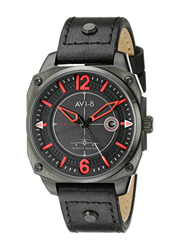 AVI-8 Men's AV-4039-04 Hawker Hunter Analog Display Japanese Quartz Black Watch