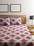Bombay Dyeing Elements 120 TC Polycotton Double Bedsheet with 2 Pillow Covers - Maroon