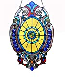 Stained Glass Lighting Victorian Window Panel 15 X 23'' Handcrafted