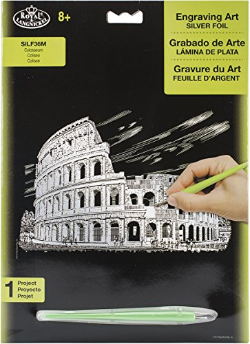 ROYAL BRUSH Silver Foil Engraving Art Kit, 8-Inch by 10-Inch, Colosseum by ROYAL BRUSH