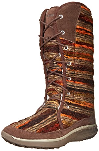Slip Women's Sky on Schwarz Merrell Pechora Warm Half Boots Length Lined Brown xZqxXHn