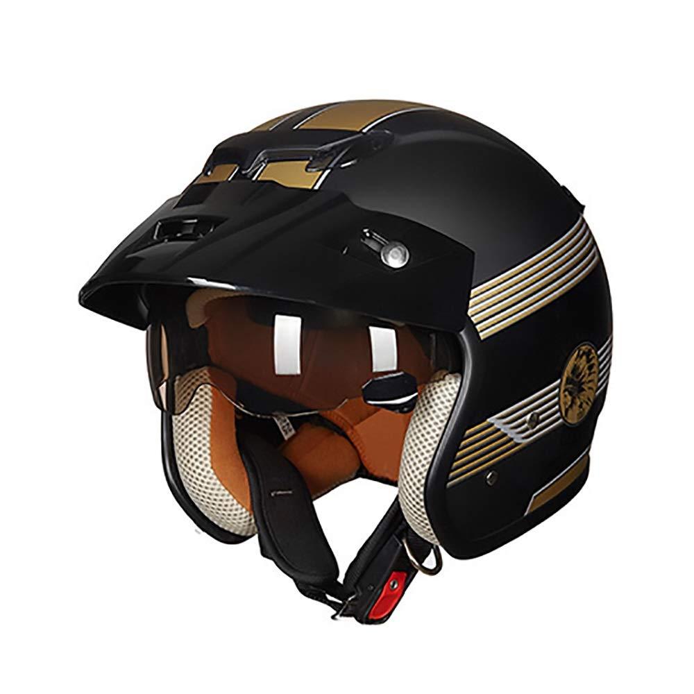 HYH マットブラックゴールドABS大人自転車ヘルメット乗馬電気自動車オートバイヘルメット自転車マウンテンバイクヘルメット屋外乗馬機器 いい人生 (Size : XL) X-Large  B07S2TWW5T