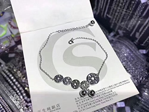 TKHNE Hong Kong is purchasing raw coins Fortune 925 sterling silver Foot Chain anklet bells women girls trend jewelry by TKHNE