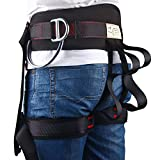 Enhanced Version Climbing Half Body Harness - Waistbelt Wider Safe Seat Belts Rappelling Equip - for Fire Rescue Higher Level Rescue Caving Rock Climbing