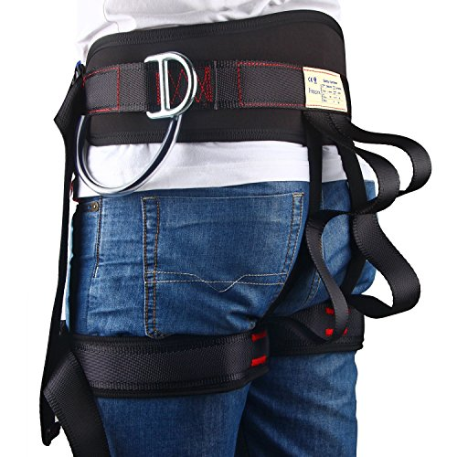 Enhanced Version Climbing Half Body Harness - Waistbelt Wider Safe Seat Belts Rappelling Equip - for Fire Rescue Higher Level Rescue Caving Rock Climbing by Freezx