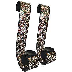 "DecorShore ""Bella Palacio"" Metal Wall Sconce, 23 in. Decorative Mosaic & Iron Scroll Candle Holder (Gemstone Rainbow)"