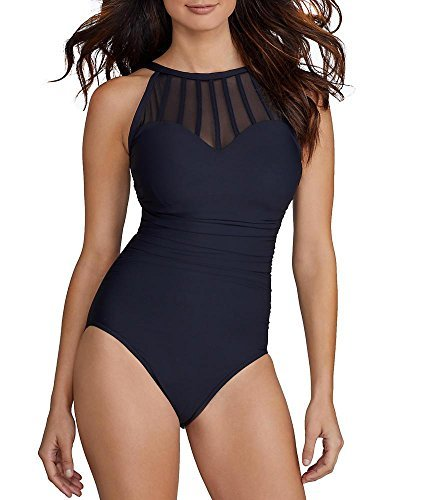 Magicsuit Women's Anastasia One Piece Underwire High Neck Swimsuit Black (Magic Underwire)