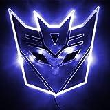 Edge Glowing LED Transformers Decepticons Car Emblem - BLUE