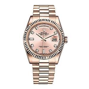 Best Epic Trends 51D6-CjDBTL._SS300_ Rolex Day-Date President 36 Everose Gold Watch 118235 Diamond Dial