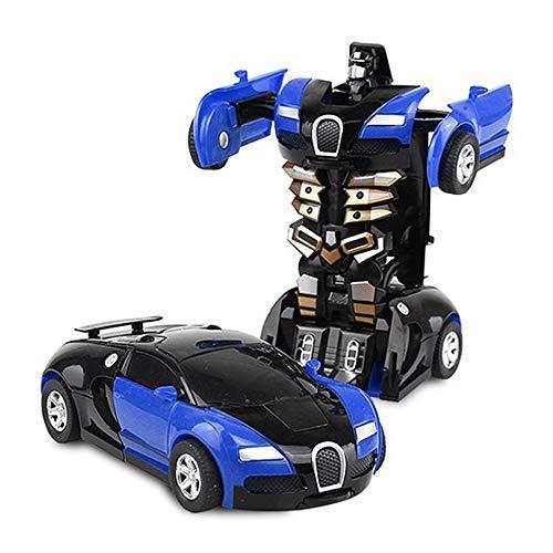 おもちゃの車 トランスフォーマー 子供用 車 玩具 車 1段変形 車 ブルー YY-bjd-blue