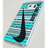 Just Do It Nike Aztec Custom Case for Samsung Galaxy S4 S5 S6 (Samsung Galaxy S6 white)