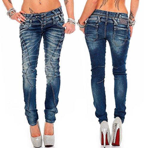 Femme bleu amp; Bleu Jeans Baxx bleu Slim Cipo 14InfYH1