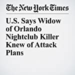 U.S. Says Widow of Orlando Nightclub Killer Knew of Attack Plans | Erin Marie Daly,Alan Blinder