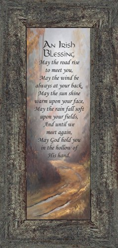An Irish Blessing, Irish Blessing Picture Frame, May the Road Rise to Meet You, 6x12 7786 (6x12, Barnwood1)