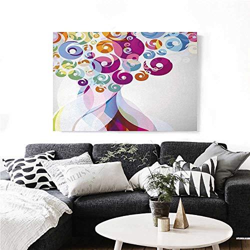 homehot Modern Art Art-Canvas Prints Digital Whirlwind Textured Vortex Concentric Spirals Fantastic Abstract Artwork Modern Wall Art for Living Room Decoration 24