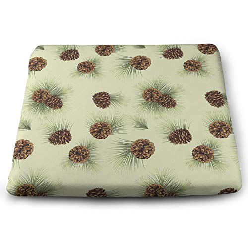 Cute Pinecone Seat Cushion Pad Memory Foam Cushion for Office Desk Chair Car Seat, Large Breathable Chair Cushion Pads for Lower Back Tailbone Coccyx Hips
