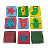 Christmas Stamps Ink Pads Kids Activity Festive Fun Presents Crackers Snowman