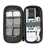 co2crea Hard Travel Case for FDA Cleared OTC HealthmateForever YK15AB TENS Unit Electronic Pulse Massager Tennis Elbow (Size S)