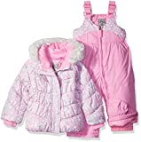 ZeroXposur Little Girls' Toddler Kitty Snowsuit, Petal, 4T
