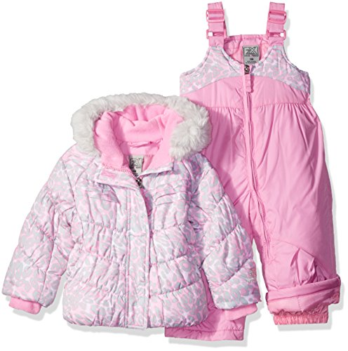 ZeroXposur Little Girls' Toddler Kitty Snowsuit, Petal, 3T