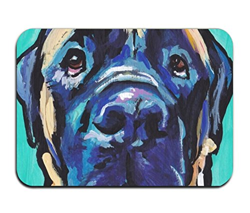 r Mat English Mastiff Bright Colorful Pop Dog Art Welcome Doormat for indoor outdoor ()