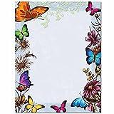 Butterflies Letterhead Laser & Inkjet Printer Paper, 100 pack