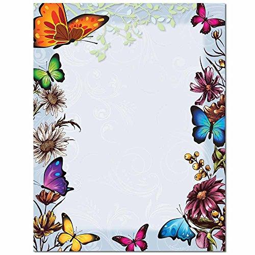 - Butterflies Letterhead Laser & Inkjet Printer Paper, 100 pack