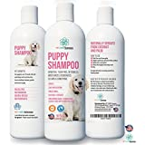 PET CARE Sciences Puppy Shampoo Gentle Sensitive Tearless - 96% Naturally Derived With Coconut Oil, Oatmeal, Aloe & Palm. Made in USA.