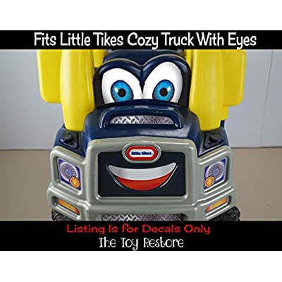 The Toy Restore Replacement Stickers Spare Decals Kit Fits Little Tikes Cozy Truck with Eyes on Dash: Home Improvement