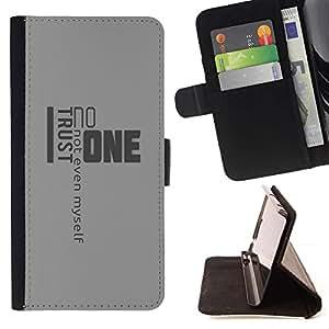 Momo Phone Case / Flip Funda de Cuero Case Cover - Confianza Noone Citar Yo Mismo Vida - Sony Xperia Style T3