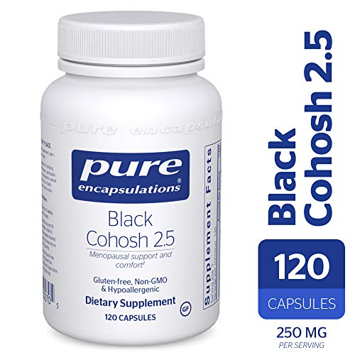 - Pure Encapsulations - Black Cohosh 2.5 - Hypoallergenic Supplement to Offer Support During Menopause* - 120 Capsules