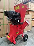 15HP 420CC Gas Powered Wood Chipper Shredder, 4'' Capacity, with Mulch Bag and Electric Start