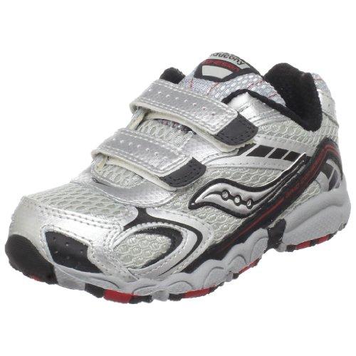 Saucony Cohesion H&L Running Shoe (Toddler),Grey/Black/Red,5.5 M US Toddler