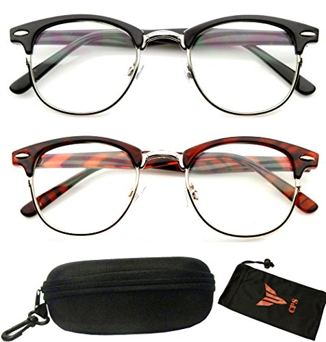 PAIRS Clubmaster Reading Glasses Tortoise product image