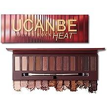 12 Colors UNCANBE Melton Rock HEAT Warm Color Eyeshadow Palette Makeup Eye Shadow Palette (#1)