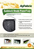 Agfabric 50% Rating- 12ftx20ft Prefabricated Sunblock Shade Panel, Shade Tarp Panel with Gromments, for Greenhouse, Barn or Kennel, Pool, Pergola or Carport